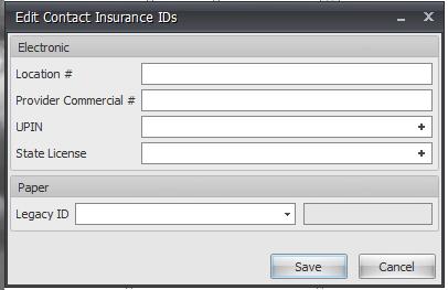 Edit Contact Insurance IDs