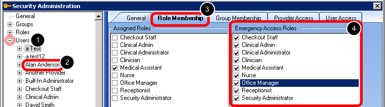 Set Up Emergency Access Roles for Users