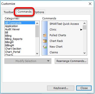 Customizing Toolbars