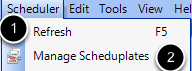 Open the Scheduplate Manager