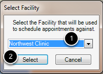 Select the new Active Facility