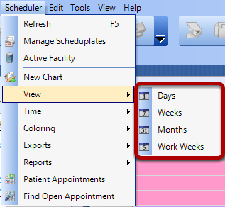 Select the Schedule View