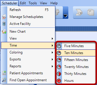 Select the Time Increment