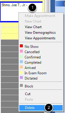 Delete an Appointment