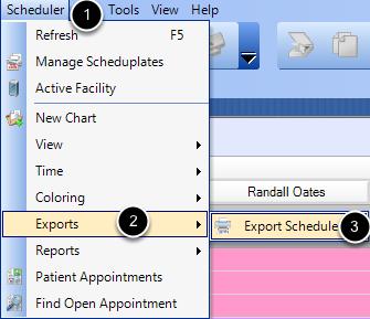 Export the Schedule