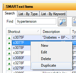 Duplicating a SMARText Item