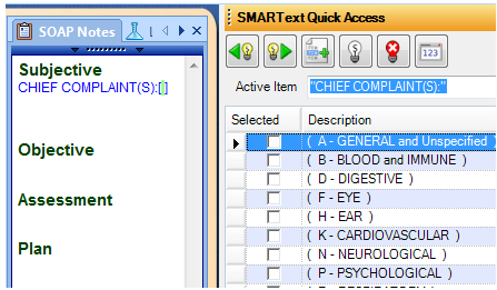Pick Lists in Quick Access from Clicking a SMARText Header