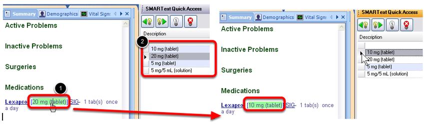 Changing Medication Sub-Items