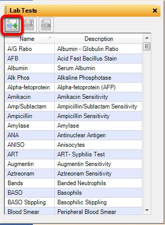 Add a Lab Test