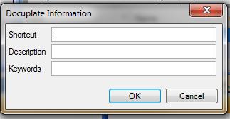 Enter Docuplate Information