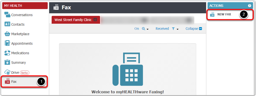 3. Fax by Uploading a Document in myHEALTHware Fax