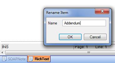 Rename the Addendum