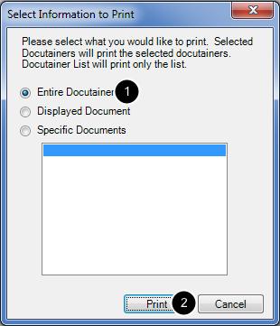 Select Printing Information
