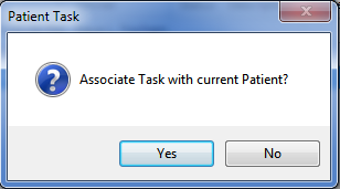Associate the Task with a patient's chart