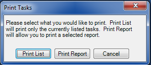 Choose List or Report