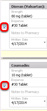 - Include/Exclude Rx