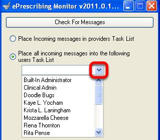 Select User Task List