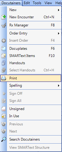 Printing a Document Design