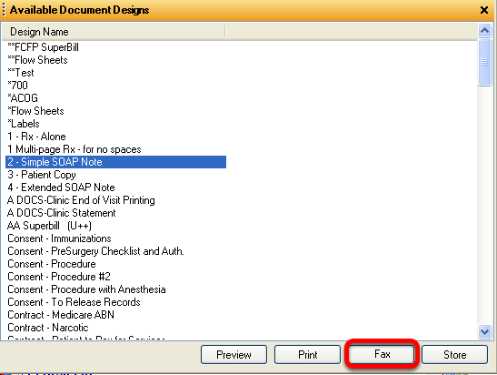 Faxing a Document Design