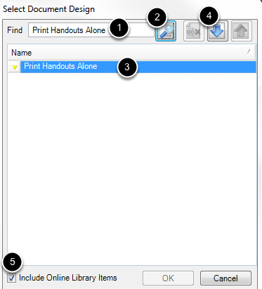 Search for Print Handouts Alone Document Online