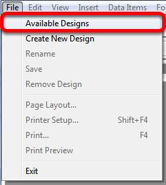 Open a Design