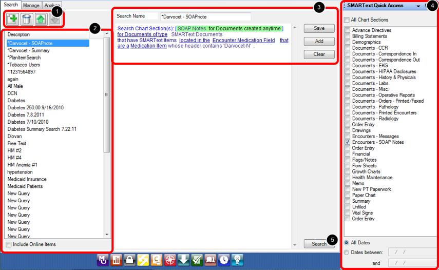 Data Explorer Interface - Search Tab