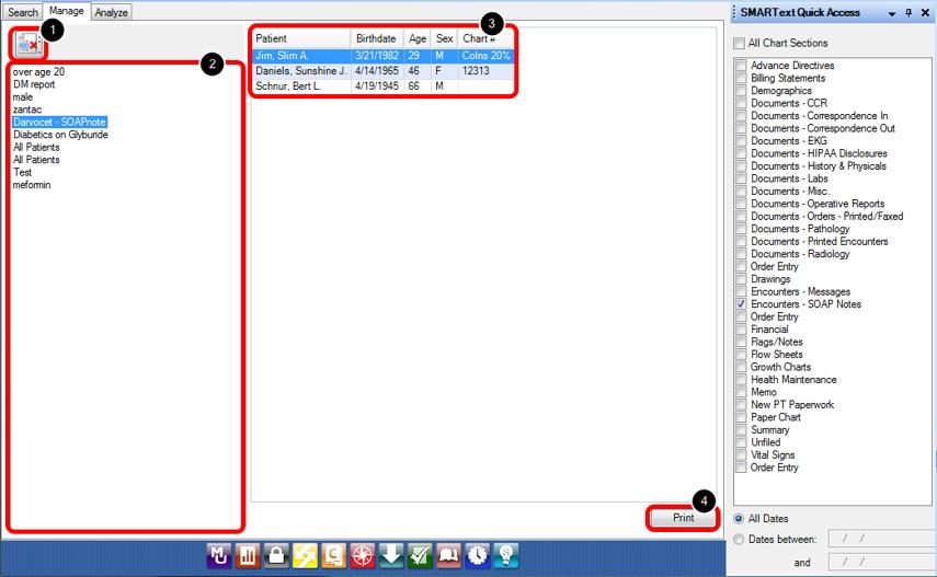 Data Explorer Interface - Manage Tab