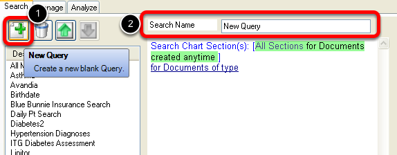 Creating a New Query