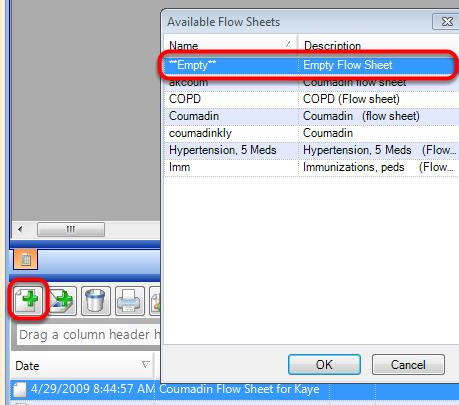 Create a New Empty Flow sheet