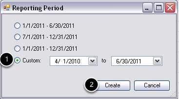 Select the Reporting Period
