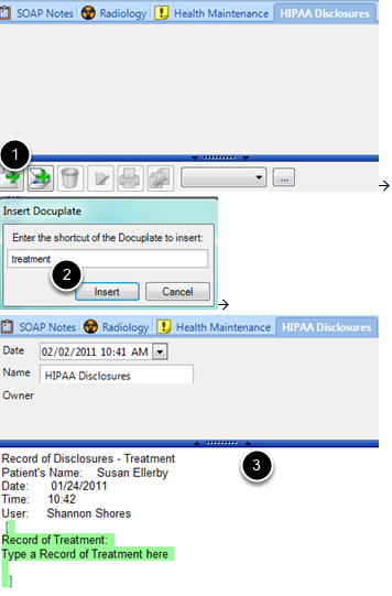 Record of Treatment