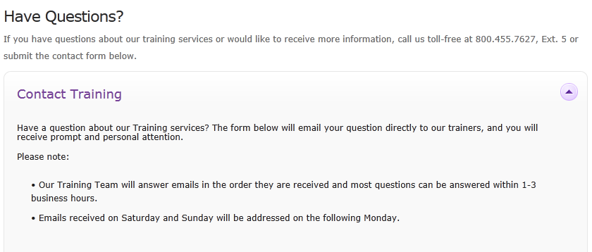 3. Email your Questions