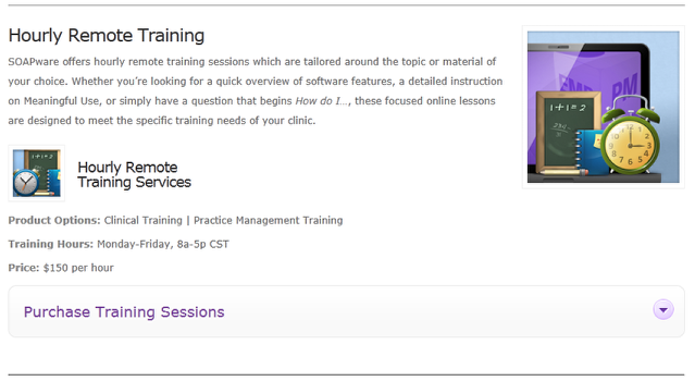 1. Purchase Hourly EMR Training Session(s)