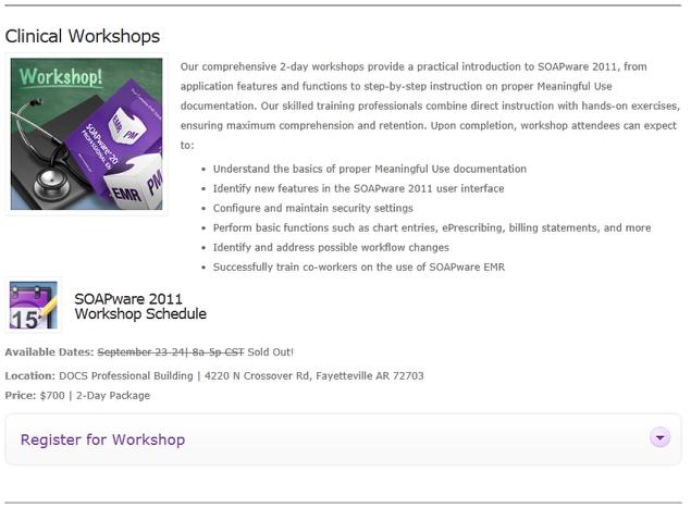 2. SOAPware EMR Workshops