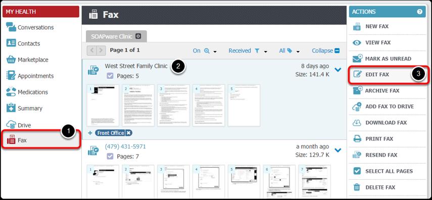 Edit Fax