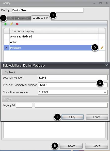 Facility Additional IDs Tab