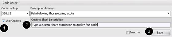 Create a Custom ICD Description