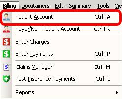 Patient Account: Flags/Notes
