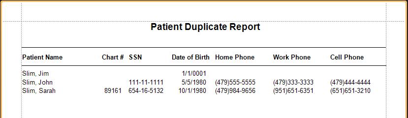 Patient Duplicate Sample