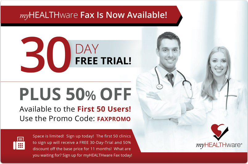 Sign Up for myHEALTHware Fax Today!