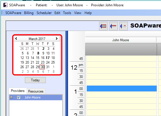 2. Locate the Desired Appointment Date/Time
