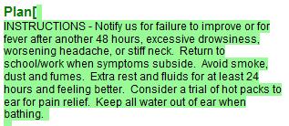 3. Enter Patient Instructions