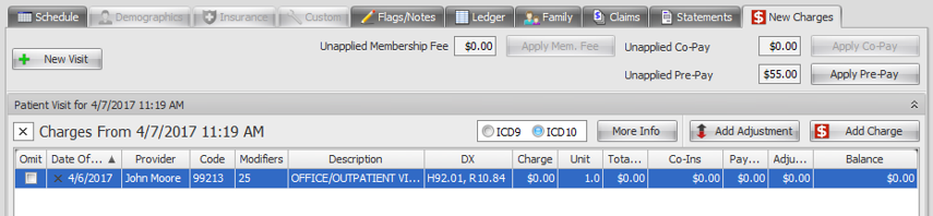 4. Charges are Posted in Patient Account