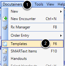 3. Access the Templates Manager