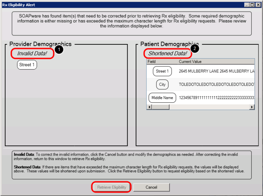 4. Correct/Review Invalid or Shortened Data