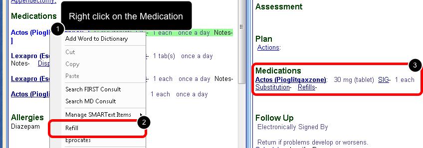 3. Refill the Medication