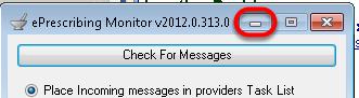5. Minimize the eRx Monitor