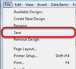 6. Save the Design