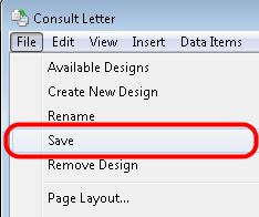 5. Save the Design