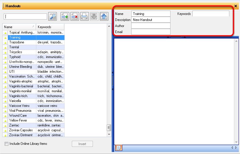 4. Complete Handout Description and Keywords